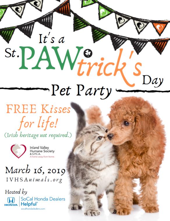 St. PAWtrick's Day Pet Party
